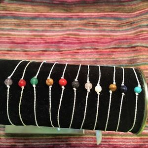 Intention Bracelets (white cord)